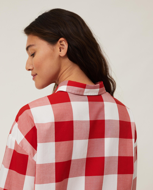 Edith Check Light Oxford Shirt