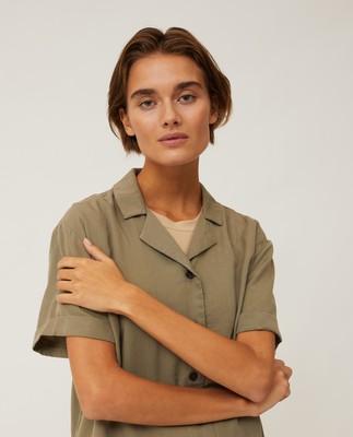 Eva Short Sleeve Lyocell Shirt, Green