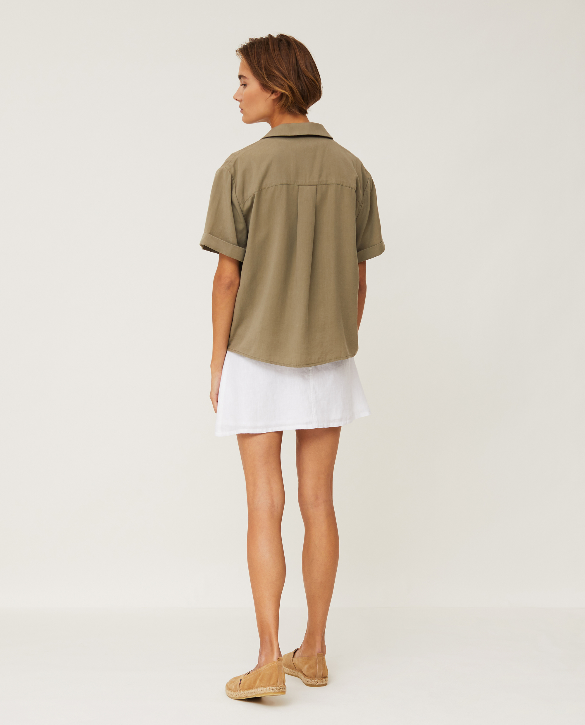 Eva Short Sleeve Lyocell Shirt, Green