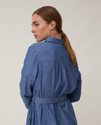 Isa Denim Shirt Dress