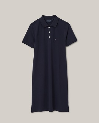 Laura Pique Polo Dress, Dark Blue
