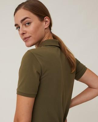 Laura Pique Polo Dress, Green