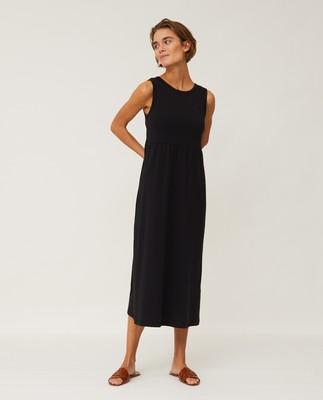 Nadia Jersey Long Dress, Black