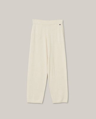 Des Organic Cotton/Tencel Knitted Pants, Light Beige Melange