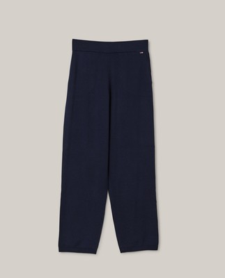 Des Organic Cotton/Tencel Knitted Pants, Dark Blue