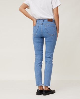 Zoe Denim Pants, Light Blue Denim
