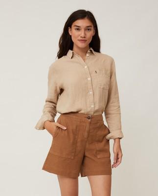 Juliana Linen Blend Shorts