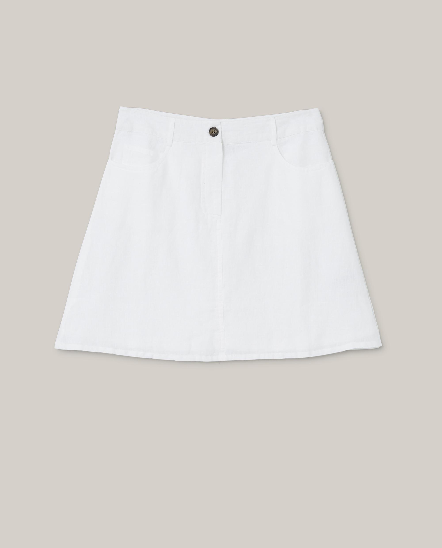 Stella Linen Skirt, Offwhite