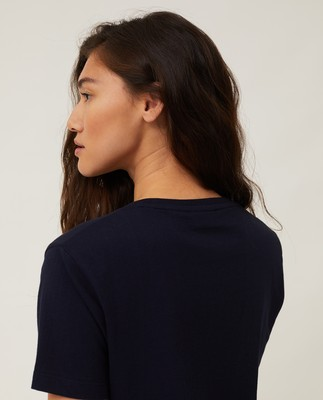 Vanessa Organic Cotton Tee, Dark Blue