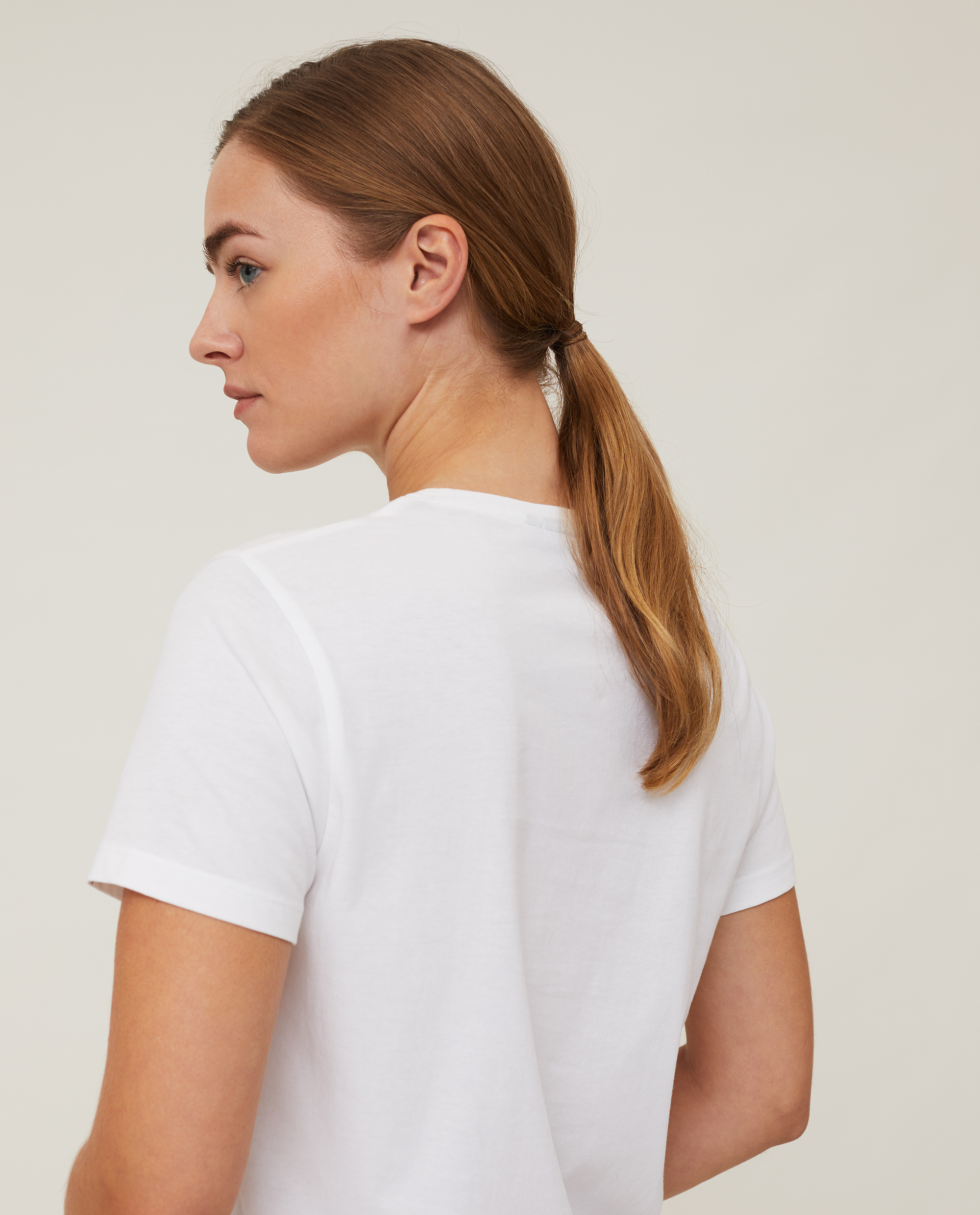 Vanessa Organic Cotton Tee, White