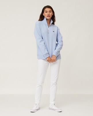 Kelly Half Zip Sweatshirt, Light Blue Melange