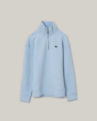 Kelly Half Zip Sweatshirt, Light Blue Melange