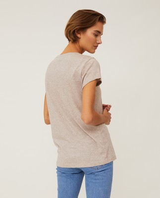 Ashley Tee, Light Brown Melange