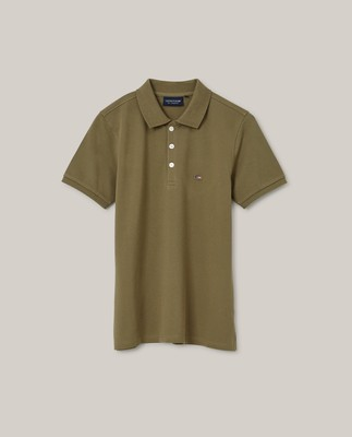 Jess Pique Polo Shirt, Green