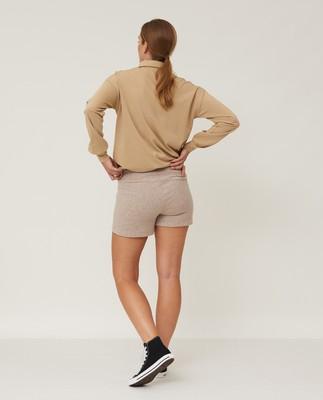 Naomi Shorts, Light Brown Melange