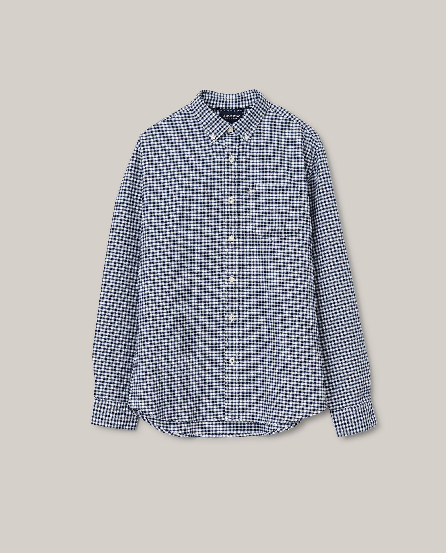 Kyle Organic Cotton Oxford Shirt, Blue/White Check