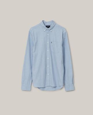 Peter Light Flannel Shirt, Light Blue Melange
