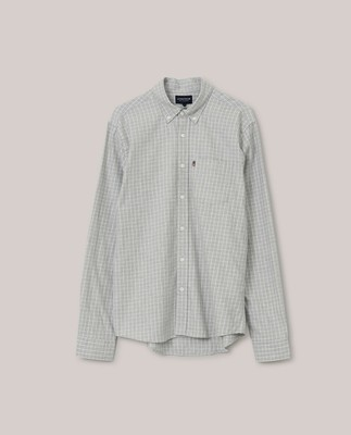 Peter Light Flannel Shirt, Gray/White Check