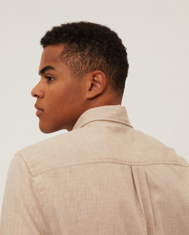 Peter Light Flannel Shirt, Beige Melange