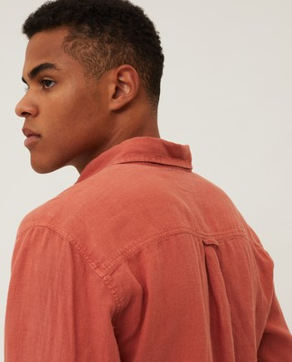 Ryan Linen Shirt, Red