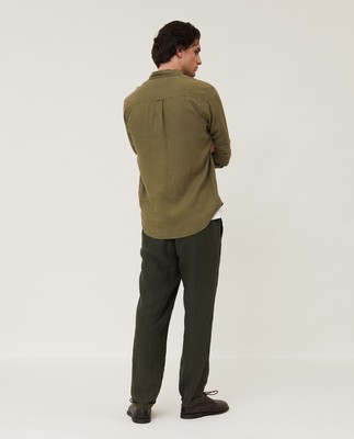 Ryan Linen Shirt, Green