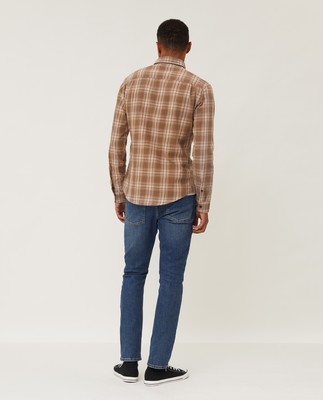 Clive Yarn Dyed Checked Shirt, Beige Multi Check