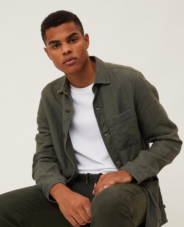 Robert Linen Overshirt, Green