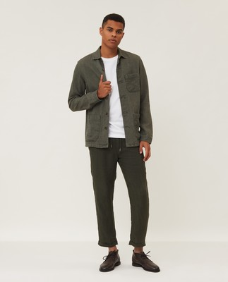 Robert Linen Overshirt, Green