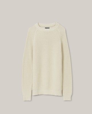 Otis Fisherman Sweater, Offwhite