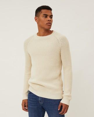 Otis Fisherman Sweater, Offwhite