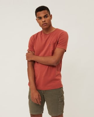 Travis Organic Cotton Tee, Red