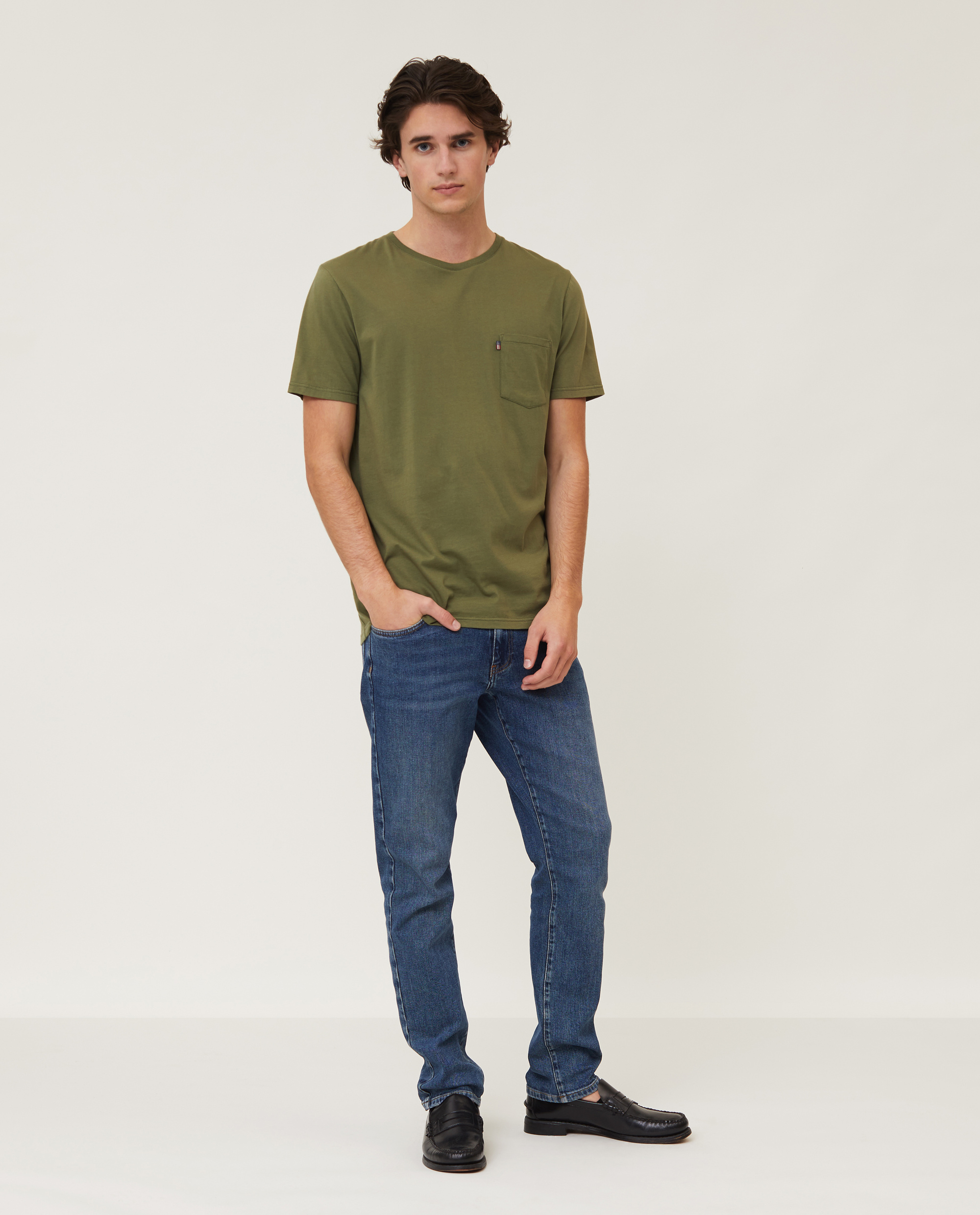 Travis Organic Cotton Tee, Green