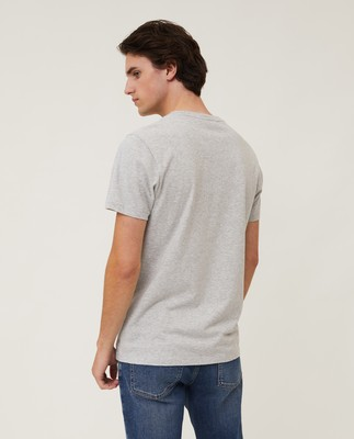 Max Printed Tee, Light Gray Melange