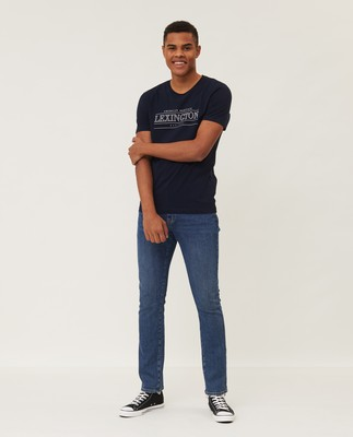 Max Printed Tee, Dark Blue
