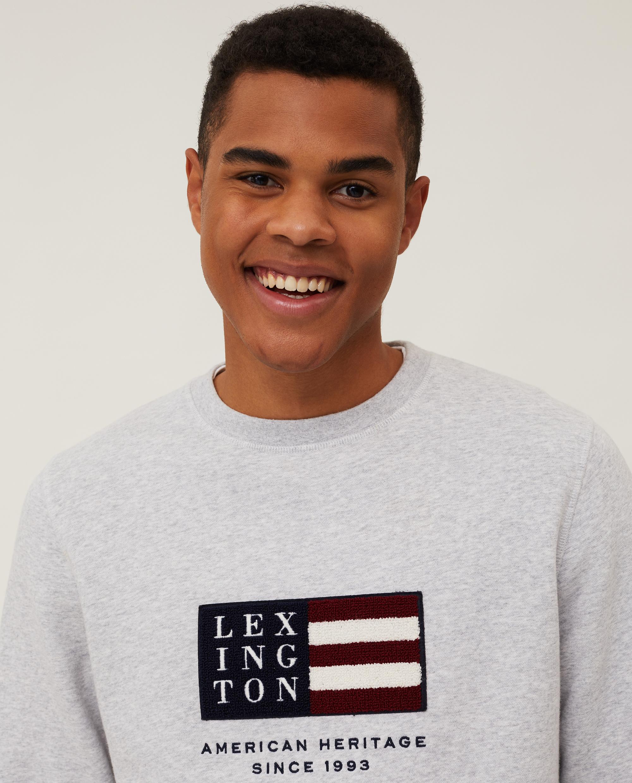Barry Organic Cotton Sweatshirt, Light Gray Melange