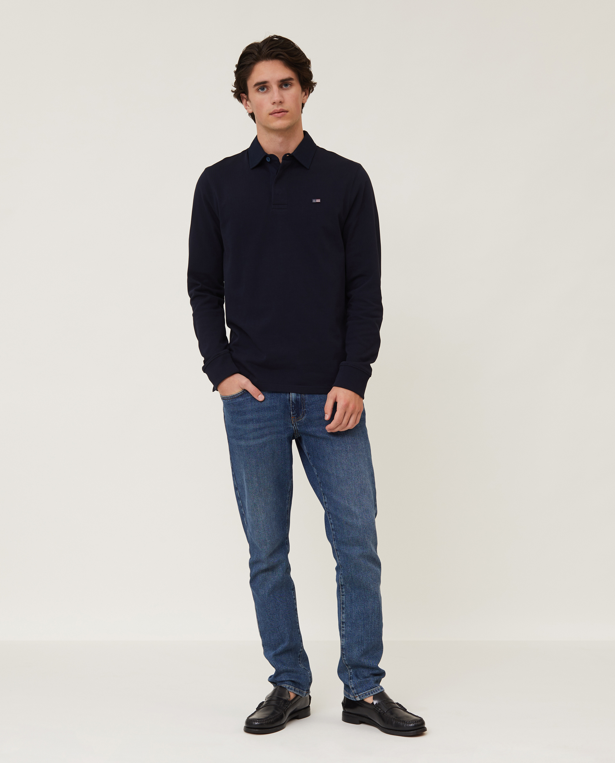 Theodore Rugby Shirt, Dark Blue