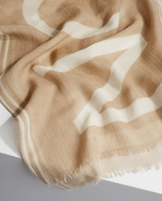 Bloom Scarf, Beige