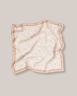 Austin Flower Silk Scarf