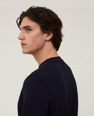 Barry Organic Cotton Sweatshirt, Dark Blue