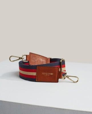 Hampton Blue Multi Stripe Shoulder Strap