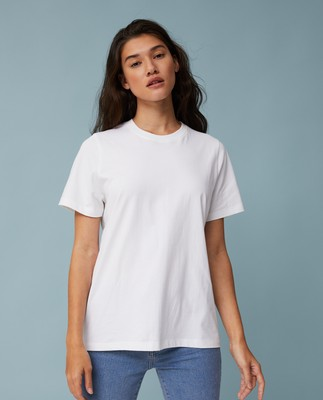 Stephanie Organic Cotton Tee, White