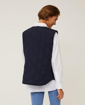 Jane Quilted Vest, Dark Blue