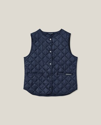 Jane Quilted Vest, Dark Blue