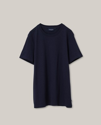 Ricky Organic Cotton Tee, Dark Blue