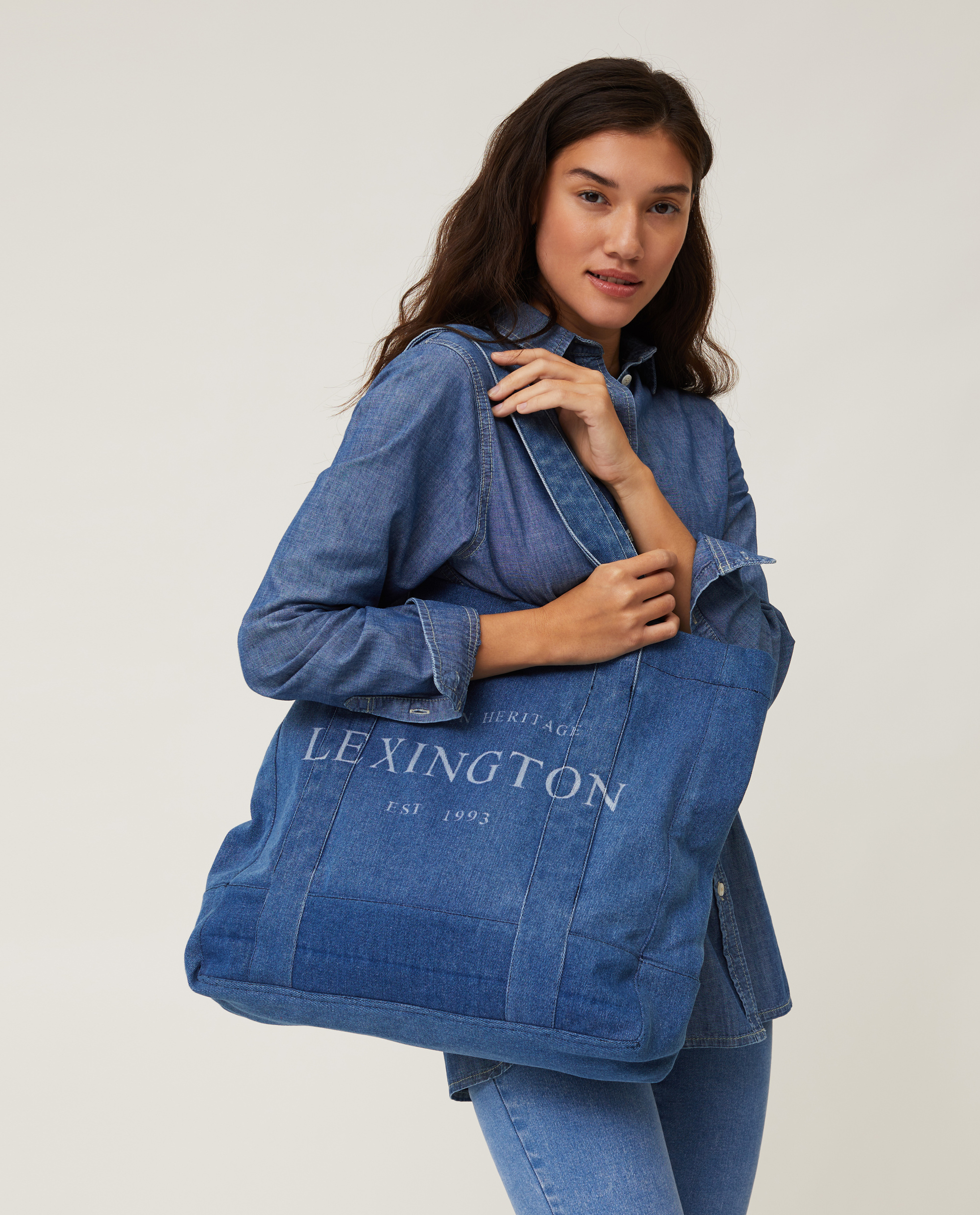 Lewis Organic Cotton Denim Shopper