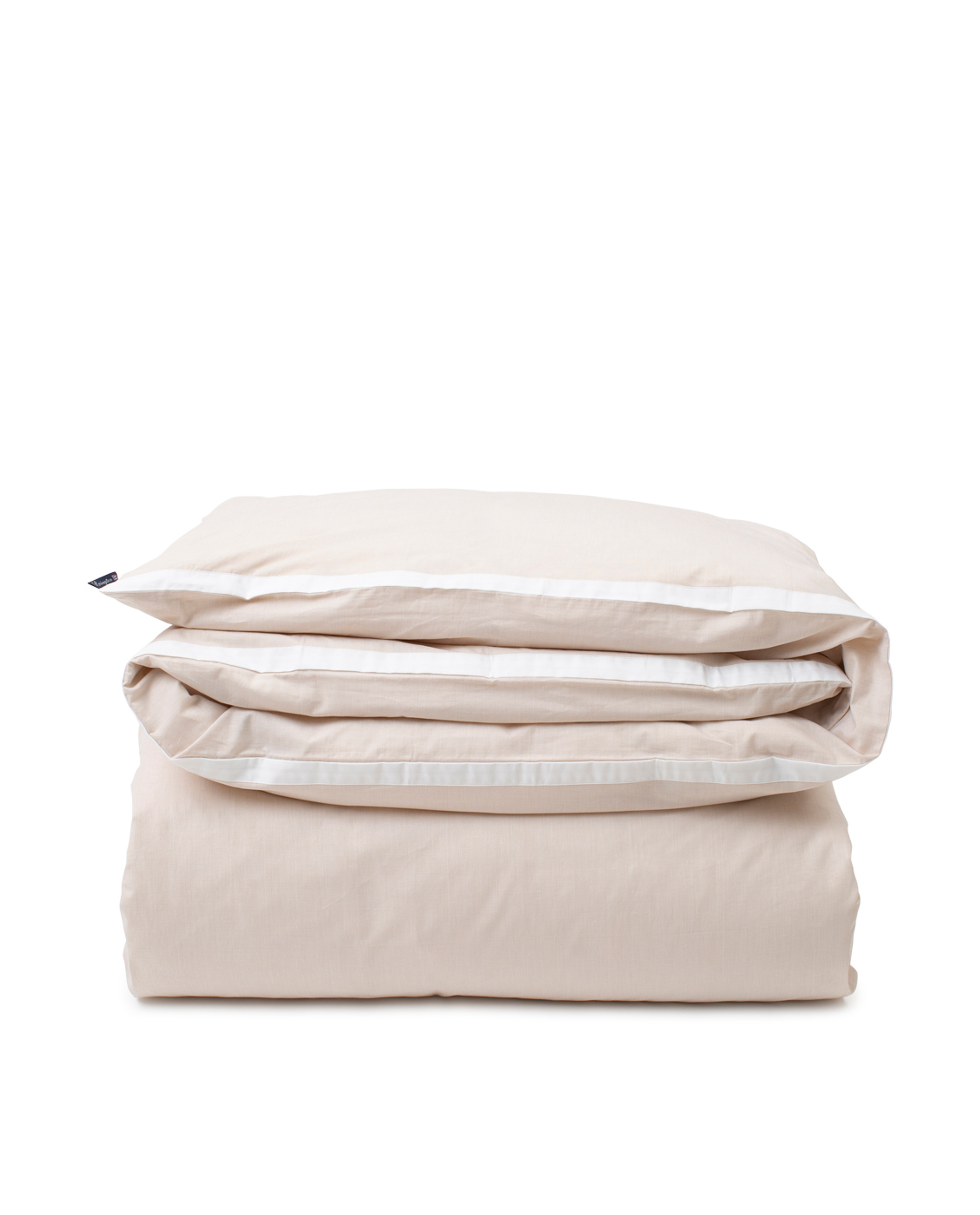Beige/White Contrast Cotton Chambray Duvet Cover