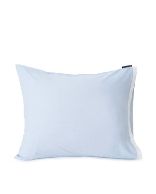 Blue/White Contrast Cotton Chambray Pillowcase