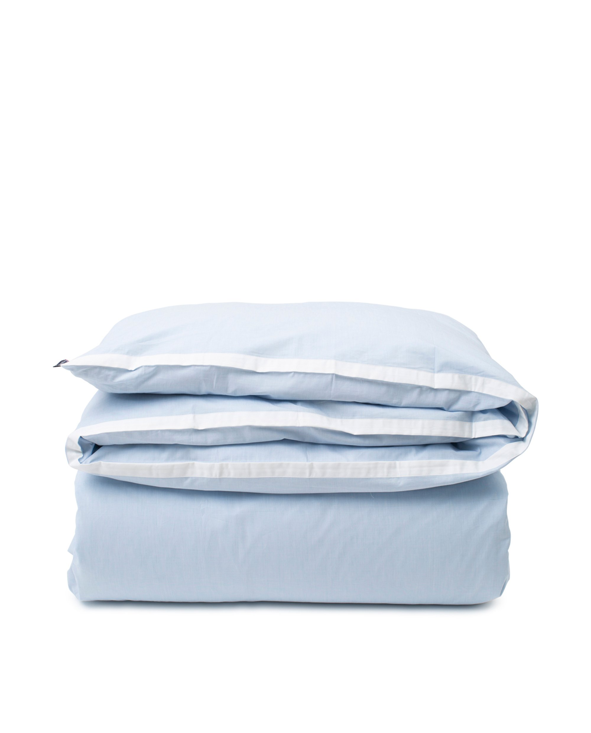 Blue/White Contrast Cotton Chambray Duvet Cover