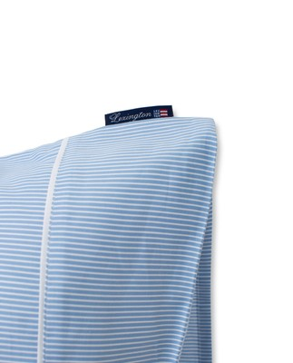 Blue/White Striped Lyocell/Cotton Pillowcase