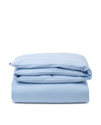Blue/White Striped Lyocell/Cotton Duvet Cover